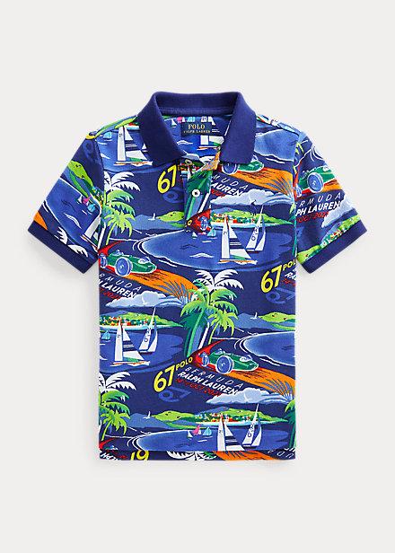 Polo Ralph Lauren Race Car Cotton Mesh Polo Shirt