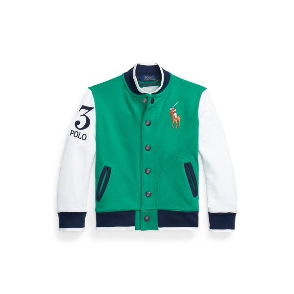폴로 랄프로렌 남아용 자켓 Polo Ralph Lauren Twill Terry Baseball Jacket,Billiard