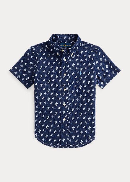 Polo Ralph Lauren Angelfish Print Cotton Seersucker Shirt