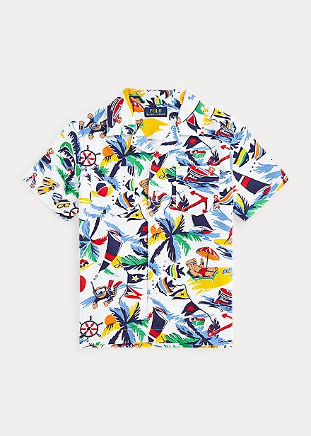 Polo Ralph Lauren Polo Bear Cotton Oxford Camp Shirt