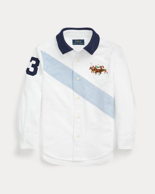 Cotton Oxford Polo-Collar Shirt