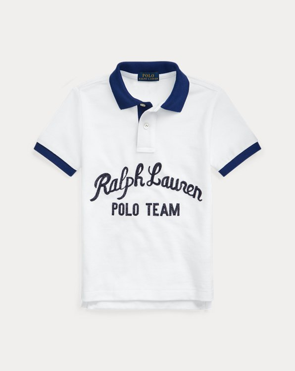 Polo Team Cotton Mesh Polo Shirt