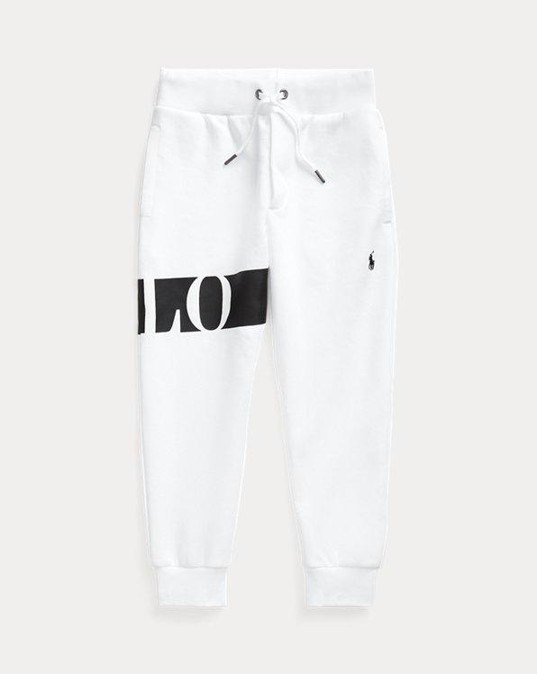폴로 랄프로렌 남아용 조거 팬츠 Polo Ralph Lauren Logo Double-Knit Jogger Pant,White
