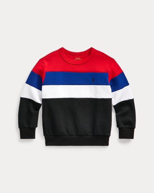 Colour-Blocked Knit Sweatshirt