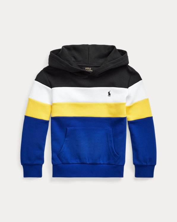 Colour-Blocked Double-Knit Hoodie
