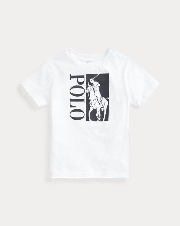 Baumwoll-T-Shirt mit Big Pony und Logo