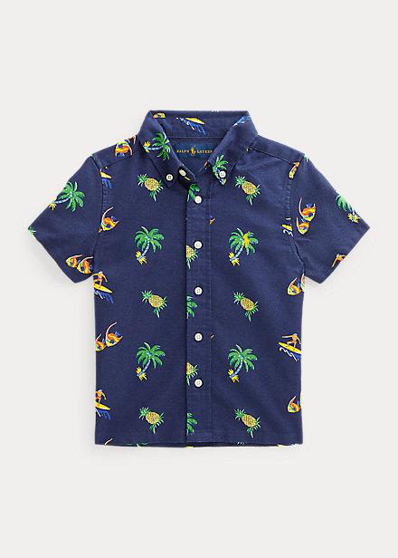 Polo Ralph Lauren Tropical Print Cotton Oxford Shirt