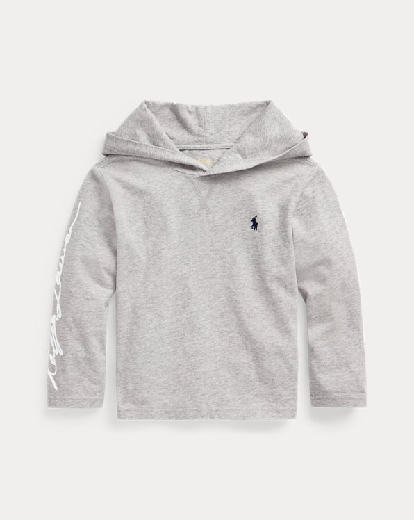 Cotton Jersey Graphic Hooded Tee