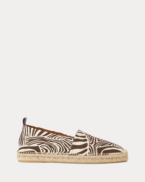 Bowsworth Zebra-Print Linen Espadrille