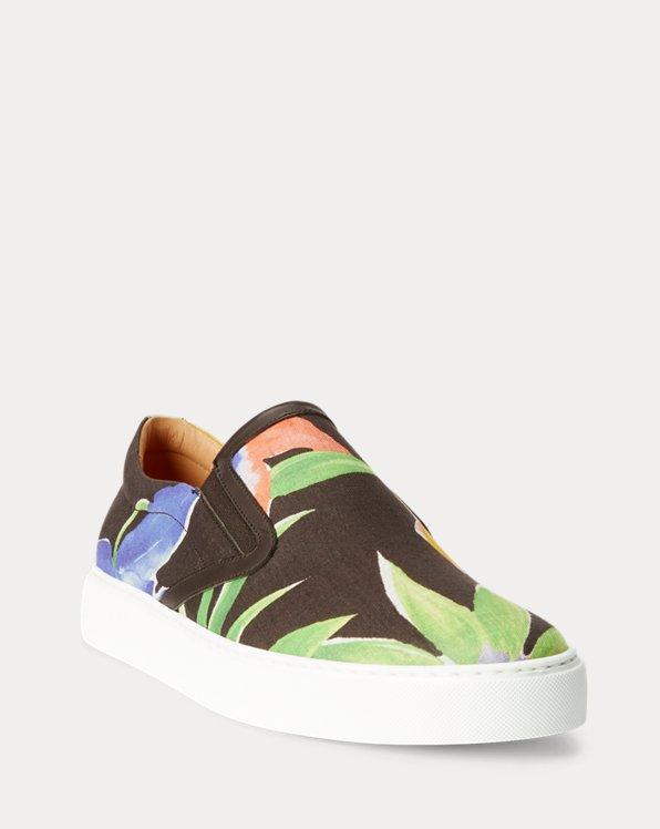 Floral Linen Slip-On Sneaker