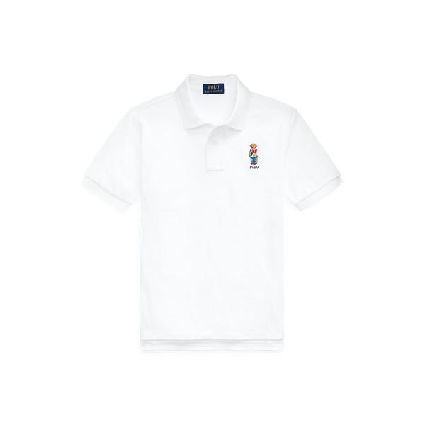 폴로 랄프로렌 보이즈 곰돌이 폴로셔츠 Polo Ralph Lauren Polo Bear Cotton Mesh Polo Shirt,White