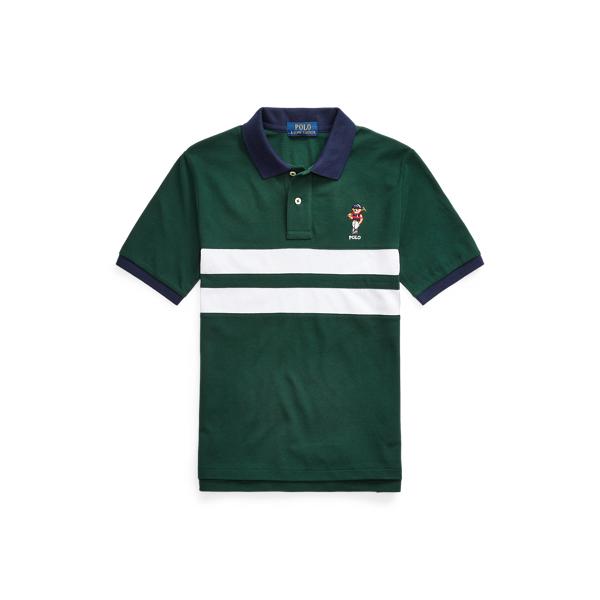 폴로 랄프로렌 보이즈 폴로셔츠 Polo Ralph Lauren Polo Bear Cotton Mesh Polo Shirt,College Green