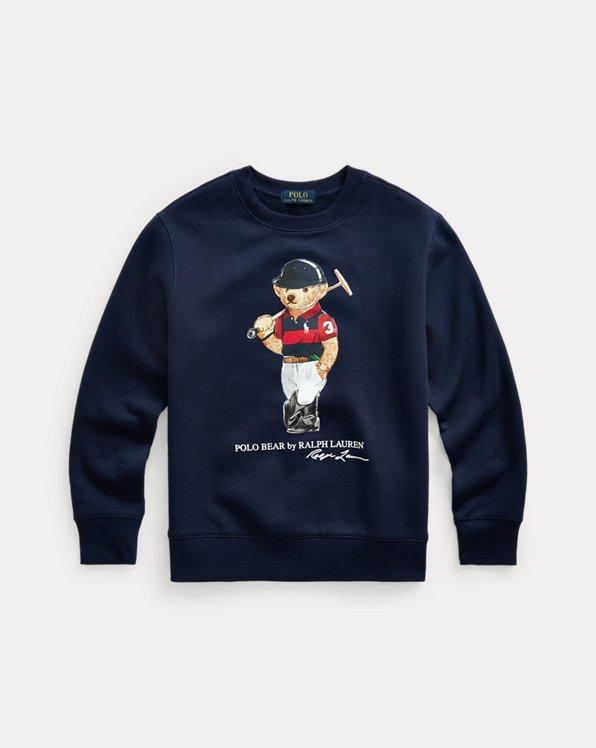 Fleece-Sweatshirt mit Polo Bear