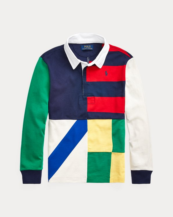 Patchwork Cotton Jersey Rugby Shirt