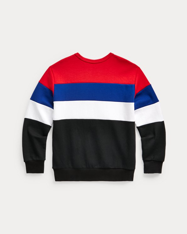 Color-Blocked Double-Knit Sweatshirt