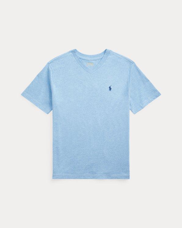 Cotton Jersey V-Neck Tee
