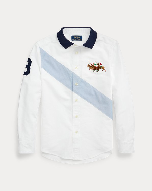 Cotton Oxford Polo-Collar Shirt