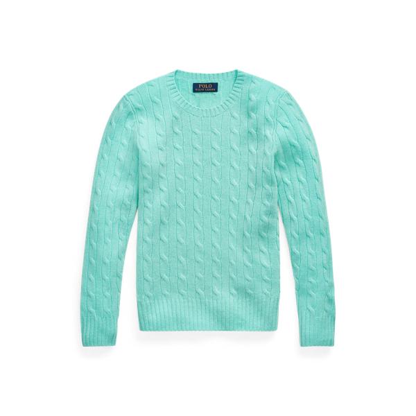 폴로 랄프로렌 보이즈 꽈배기 캐시미어 니트 280455 Polo Ralph Lauren Cable Knit Cashmere Sweater,Island Green