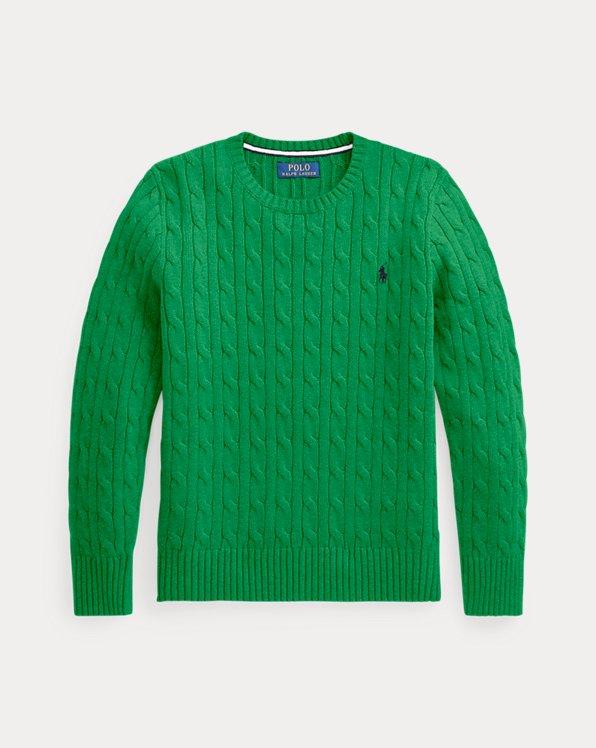 폴로 랄프로렌 보이즈 꽈배기 스웨터 Polo Ralph Lauren Cable-Knit Cotton Sweater,Golf Green