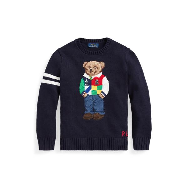 폴로 랄프로렌 보이즈 스웨터 Polo Ralph Lauren Polo Bear Cotton Sweater,RL Navy