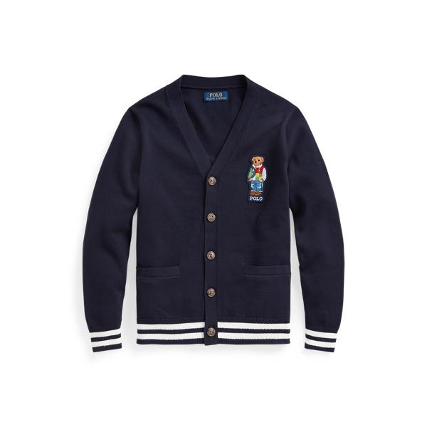 폴로 랄프로렌 보이즈 가디건 Polo Ralph Lauren Polo Bear Cotton Cardigan,RL Navy