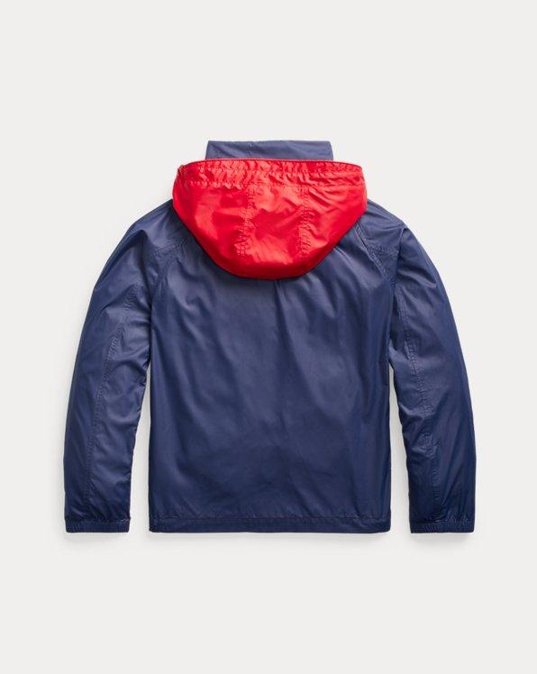 Water-Resistant Packable Hooded Jacket