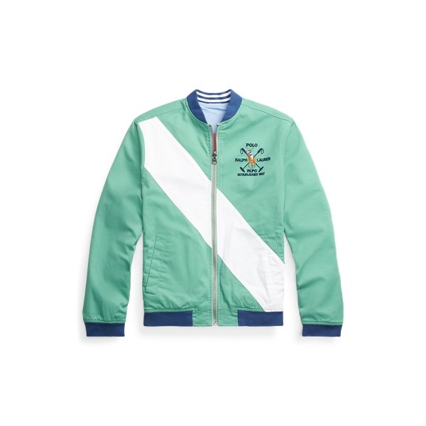 폴로 랄프로렌 보이즈 자켓 Polo Ralph Lauren Reversible Stretch Chino Jacket,Haven Green