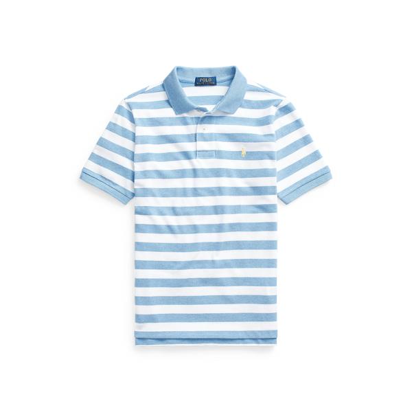 폴로 랄프로렌 보이즈 폴로셔츠 Polo Ralph Lauren Striped Cotton Mesh Polo Shirt,Soft Royal Heather