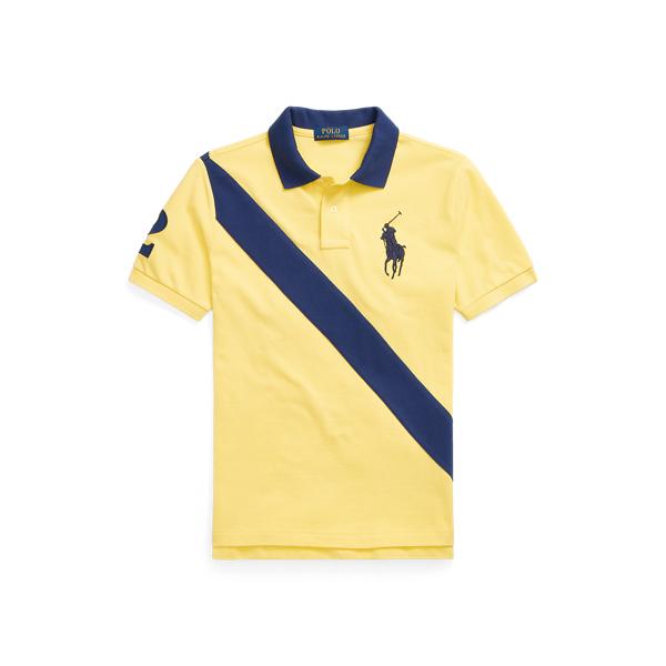 폴로 랄프로렌 보이즈 빅 포니 폴로셔츠 Polo Ralph Lauren Big Pony Cotton Mesh Polo Shirt,Beekman Yellow Multi