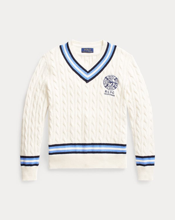 Embroidered Cotton Cricket Sweater