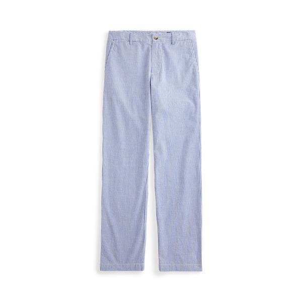 폴로 랄프로렌 보이즈 팬츠 Polo Ralph Lauren Stretch Cotton Seersucker Skinny Pant,White/Provincetown Blue