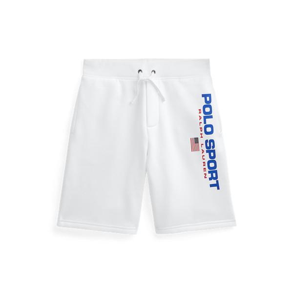 폴로 랄프로렌 보이즈 반바지 Polo Ralph Lauren Polo Sport Fleece Short,White
