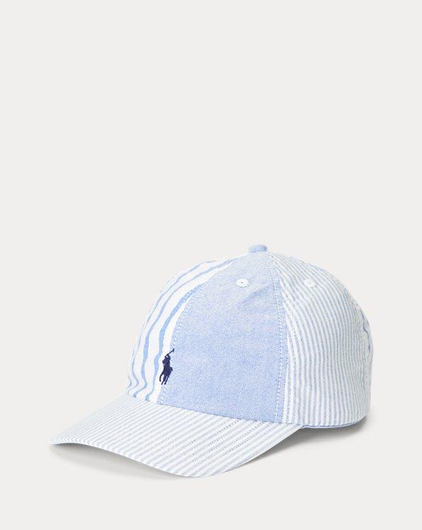 Striped Cotton Oxford Ball Cap