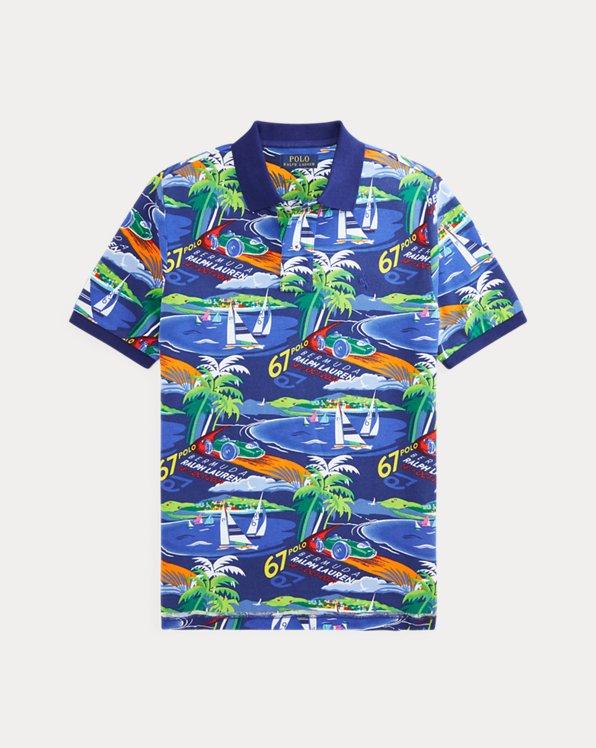 Racing Car Cotton Mesh Polo Shirt