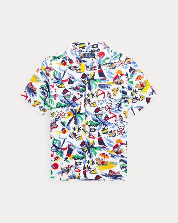 Baumwolloxford-Kurzarmhemd mit Polo Bear