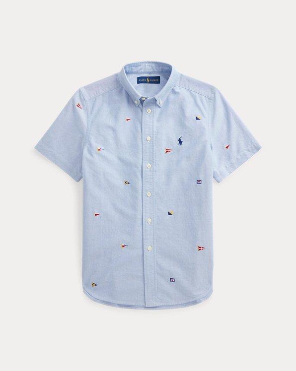Nautical Flag Cotton Oxford Shirt