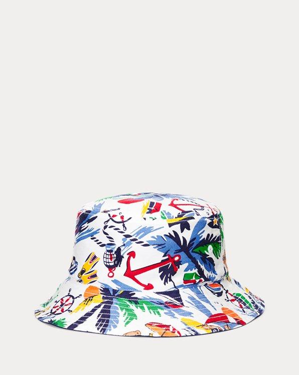 Reversible Cotton Oxford Bucket Hat