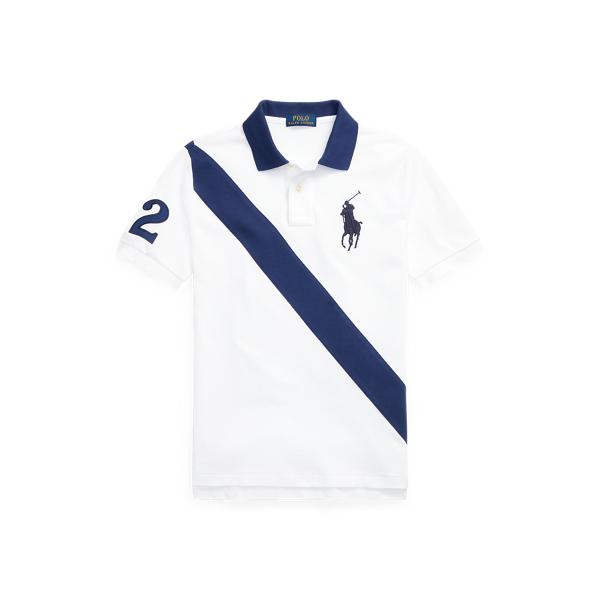폴로 랄프로렌 보이즈 빅 포니 옥스포드 폴로셔츠 Polo Ralph Lauren Big Pony Cotton Mesh Polo Shirt,Classic Oxford White