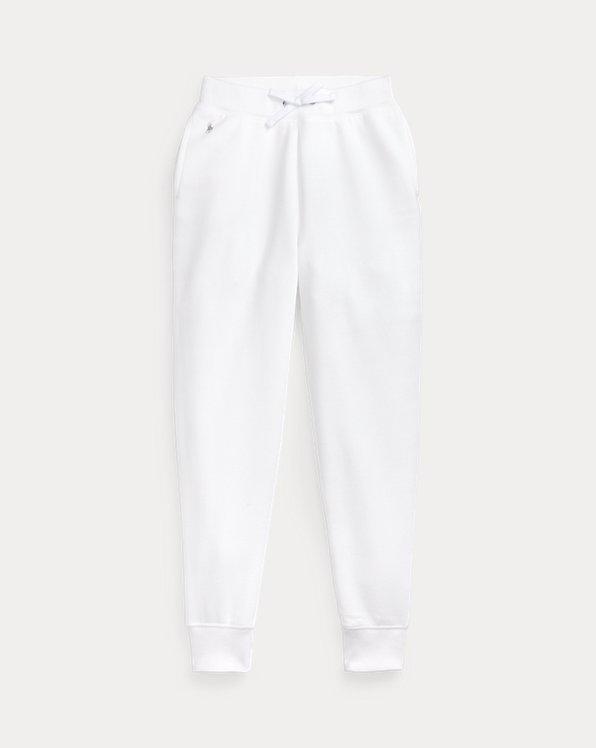 폴로 랄프로렌 걸즈 조거 팬츠 Polo Ralph Lauren Cotton-Blend-Fleece Jogger,Pure White