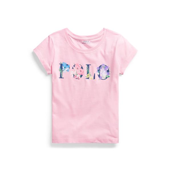 폴로 랄프로렌 Polo Ralph Lauren Floral Logo Cotton Jersey Tee,카멜 Carmel Pink