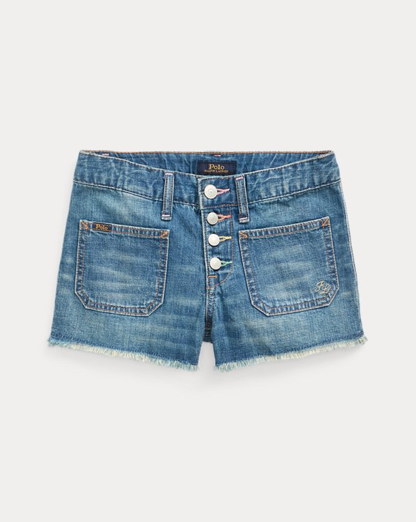 Button-Fly Denim Short
