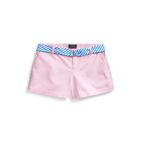 폴로 랄프로렌 Polo Ralph Lauren Belted Stretch Chino Short,카멜 Carmel Pink