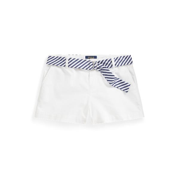 폴로 랄프로렌 Polo Ralph Lauren Belted Stretch Chino Short,White