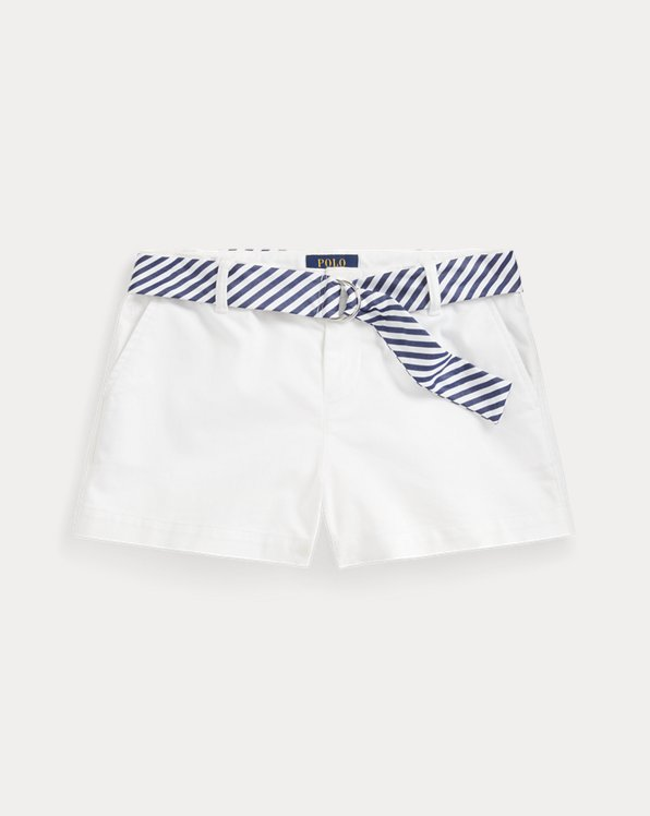 Belted Stretch Chino Short