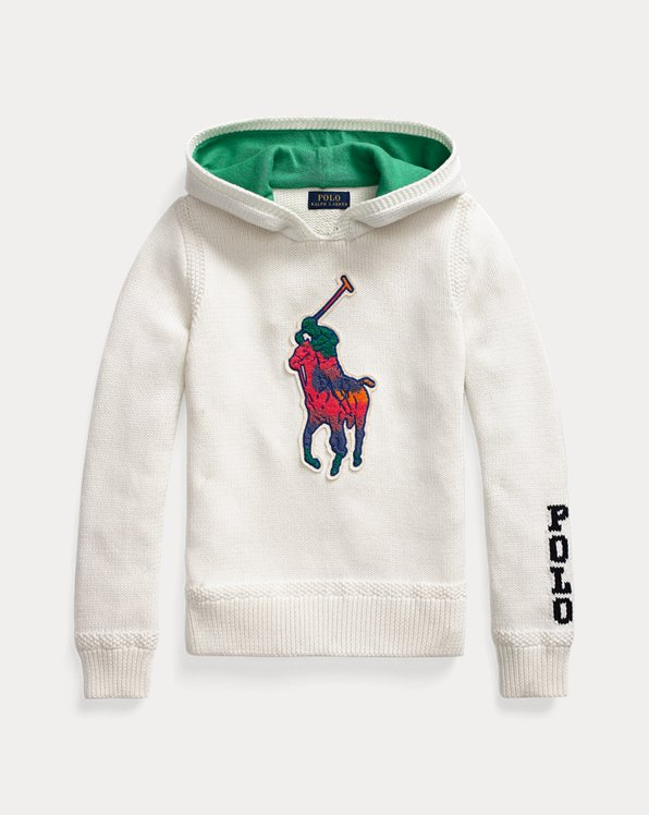 Big Pony Hooded Cotton Jumper