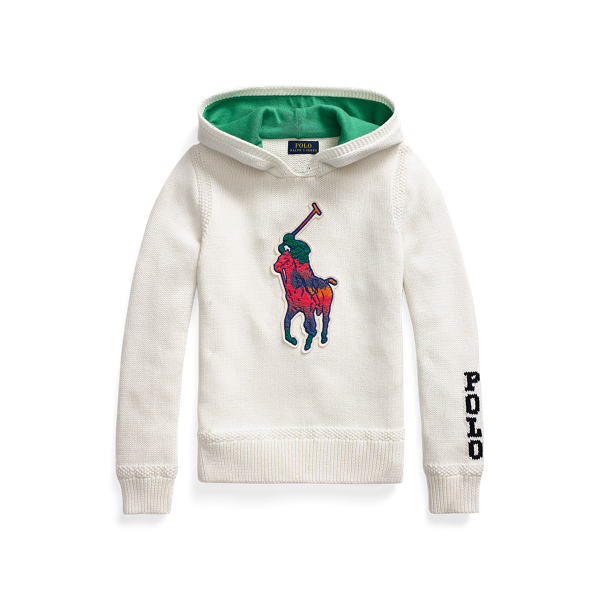 Big Pony Hooded Cotton Jumper