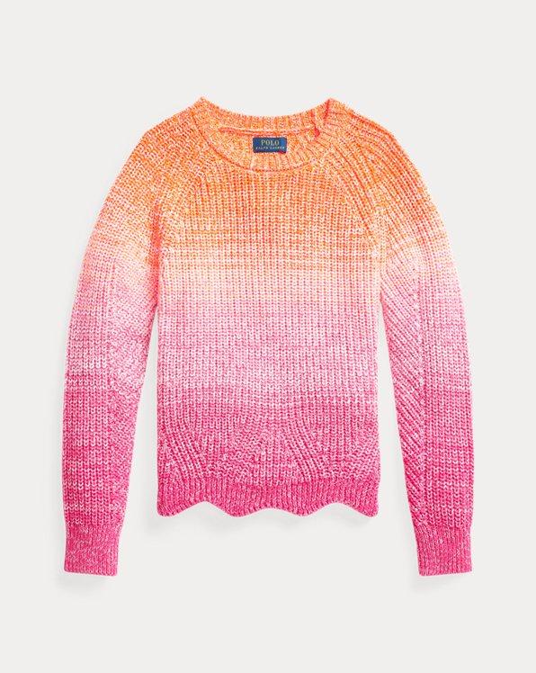 Ombré-Pullover aus Baumwolle