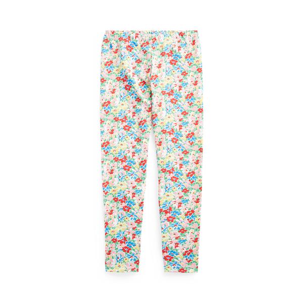 폴로 랄프로렌 Polo Ralph Lauren Floral Stretch Jersey Legging,Red Multi