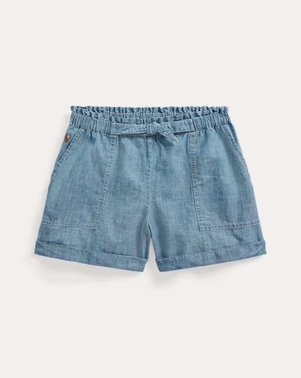Cotton Chambray Paperbag Short