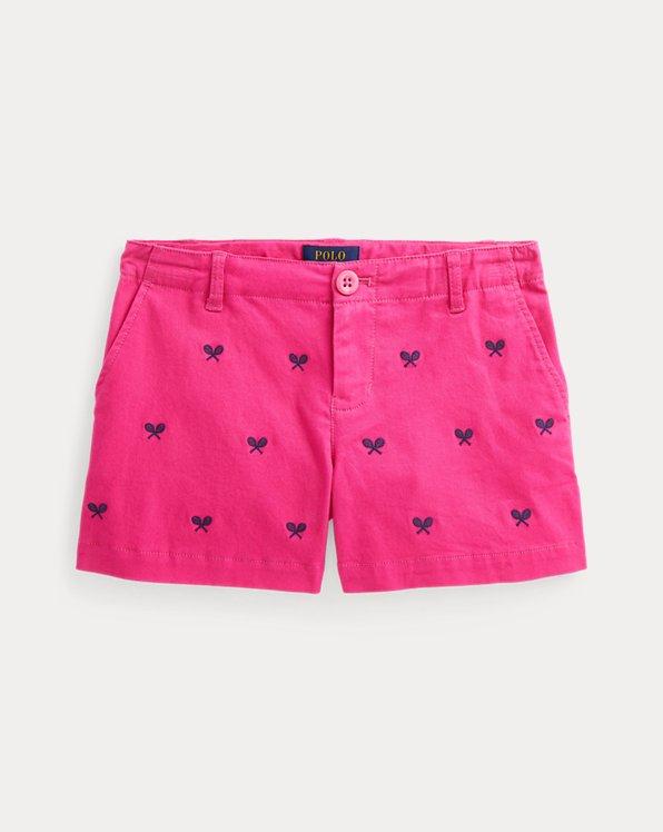 Stretch-Chino-Shorts mit Tennisschlägern